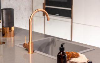 Copper,Tap,In,Modern,Grey,Kitchen,Interior