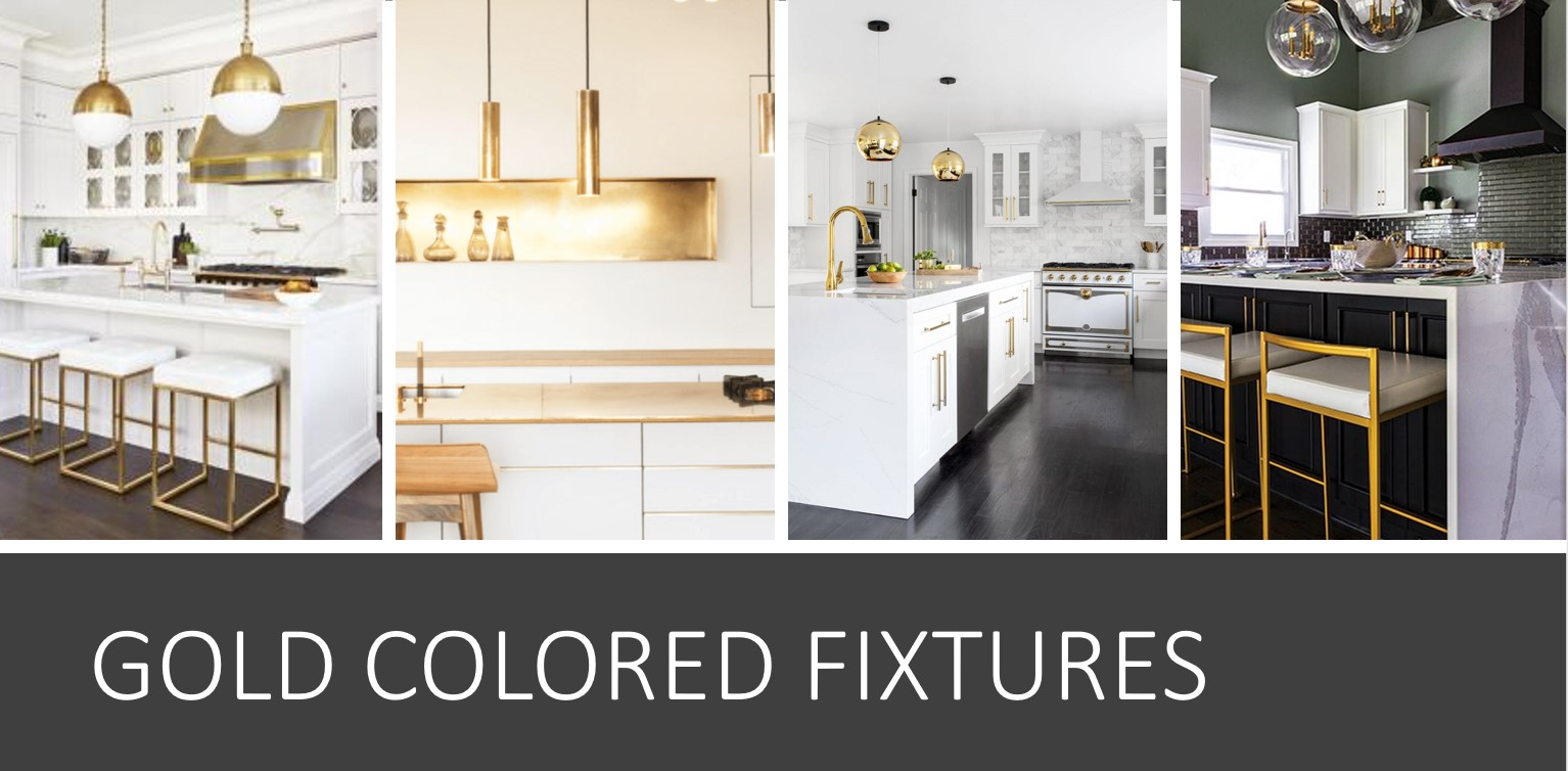 Gold Colored Fixtures