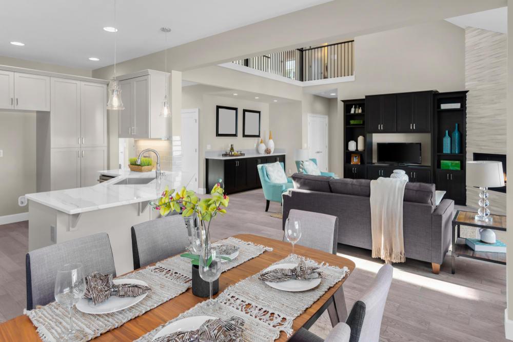 Open concept home interior (Open Floor Plan Remodeling Tips)